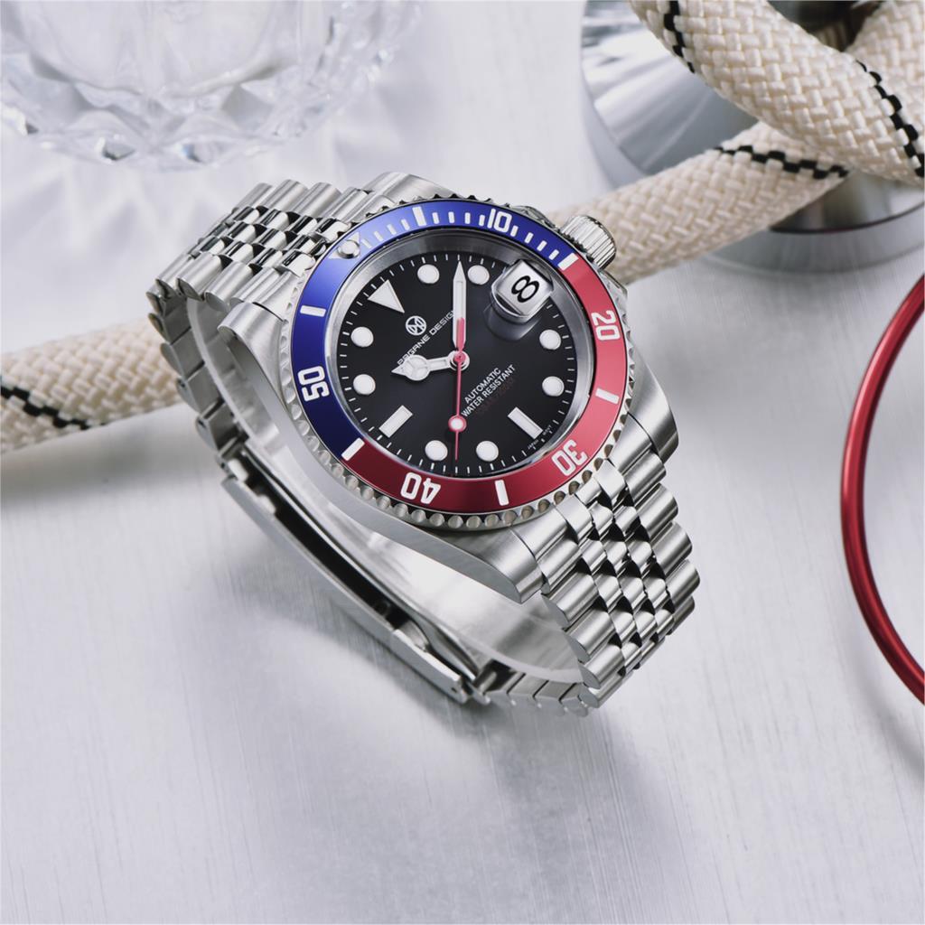2021 PAGRNE DESIGN Top Brand New Men Mechanical Wristwatch GMT Watch Stainless Steel Japan NH36A Luxury Men Watche reloj hombre enlarge