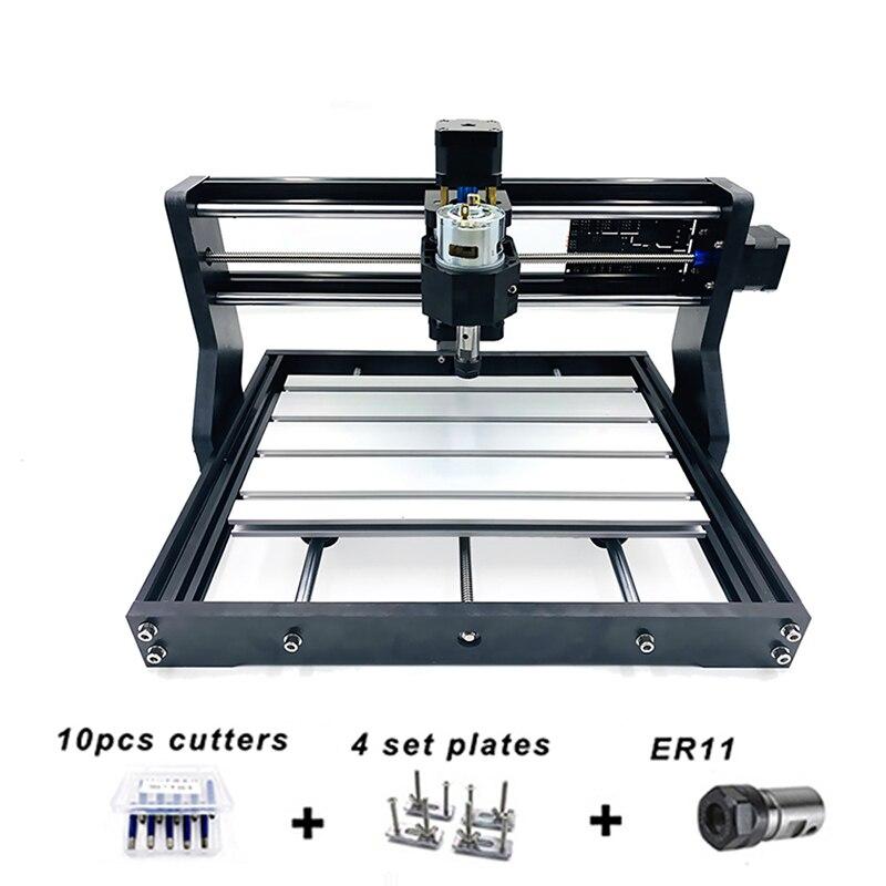 Фрезерный станок с ЧПУ 3018 Pro, лазерный гравер по дереву, управление GRBL, 3 оси, с автономным управлением, фрезерный станок для печатных плат, фр...