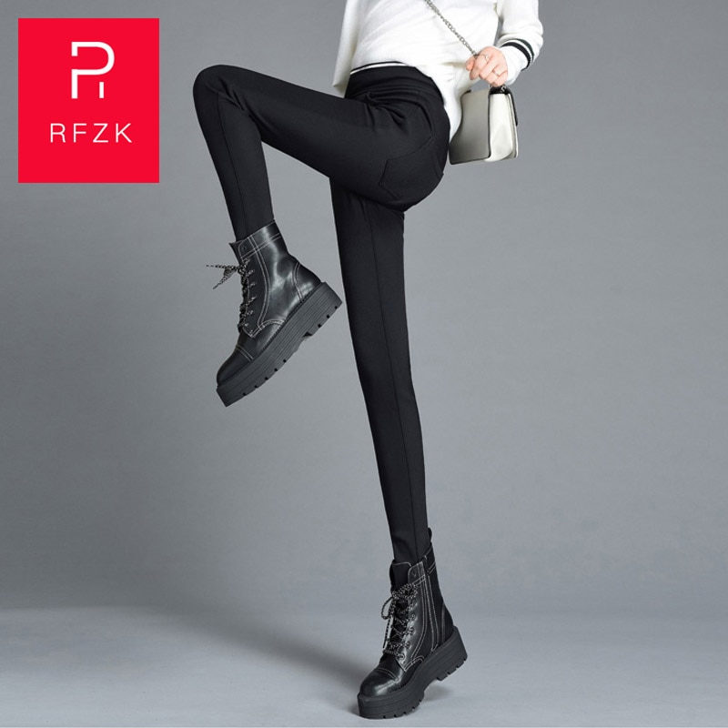 Rfzk 2020 New Fashion Plus cashmere Women's Autumn And Winter High Elasticity And Good Quality Thick Velvet Pants Warm Leggings