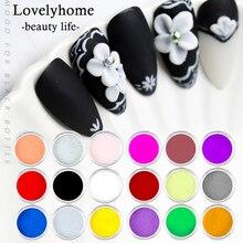 18 colores/lote de polvo acrílico para uñas talladas, polvo para uñas UV, arte polimérico, nuevo patrón de tallado, polvo de manicura 3d SJF01