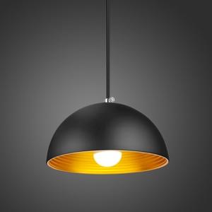 Simple Modern Pendant Lights Dia 20cm Black Thread E27 Metal Pendant lamps Restaurant Lighting Fixture Suspension Lamp Kitchen