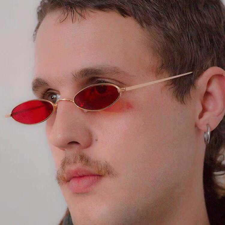 2021 Trends Luxury Shades Steanpunk Sunglasses Men Oval Sun Glasses Women Vintage Brand Designer Oku