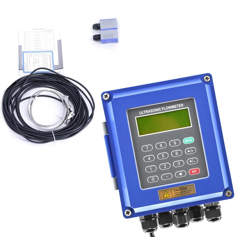 Hot TUF-2000B TS2 Ultrasonic Flow Meter DN50Mm-DN700mm Wall Mounted Type Ultrasonic Liquid Flowmeter IP67 Protection Transducer,
