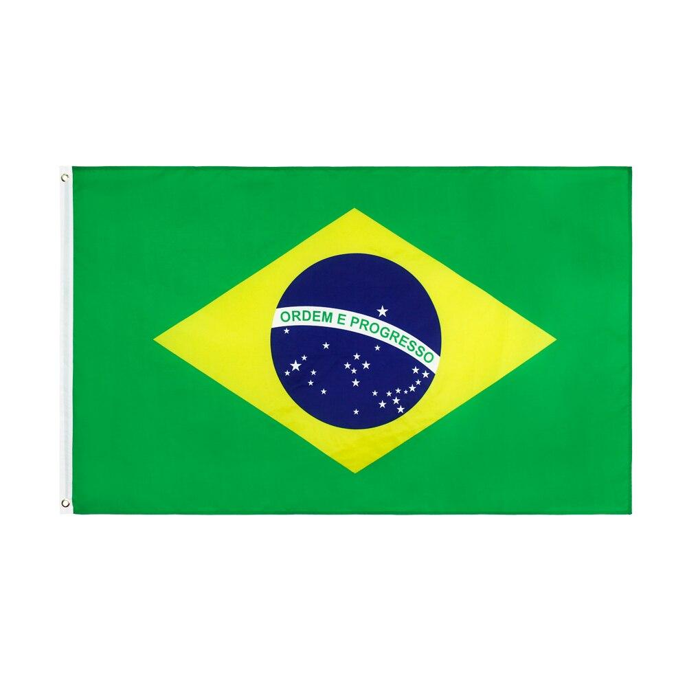 Sujetador br, Bandera de Brasil, 90x150cm