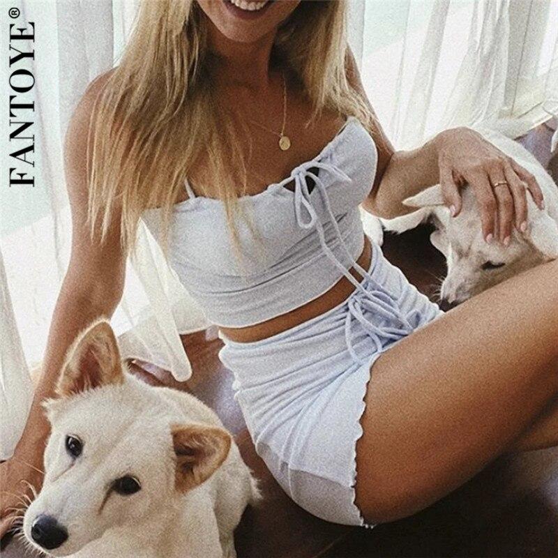 FANTOYE Women White Tees Camis Crop-Tops Spaghetti Strap Slim Short Tank Tops 2020 Summer Femme Wide Strap Tees Skinny Camisole