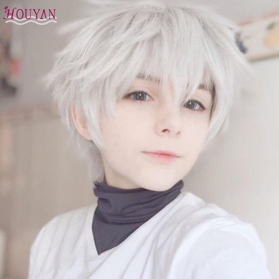 HOUYAN Wig male short hair net celebrity cos universal Korean version Japanese handsome and natural is too full headgear style g