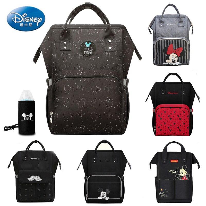 Disney Mickey Baby USB torby na pieluchy plecak torba na mamusie torba podróżna o dużej pojemności torba na mamusie dla dziecka wielofunkcyjny wózek dziecięcy