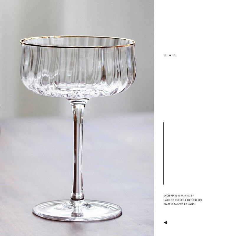 2 قطعة كوب للحلوى بسيطة كوكتيل كأس زجاجية الآيس كريم السلطانية الباردة طبق الأطباق وجبة خفيفة الزبادي الحاويات ل حفل زفاف بار الزجاج