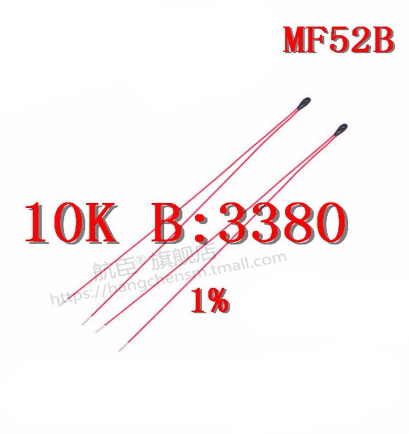 Emaliowany przewód termistor NTC MF52B103F3380 1% czujnik NTC 10K 3380 1%