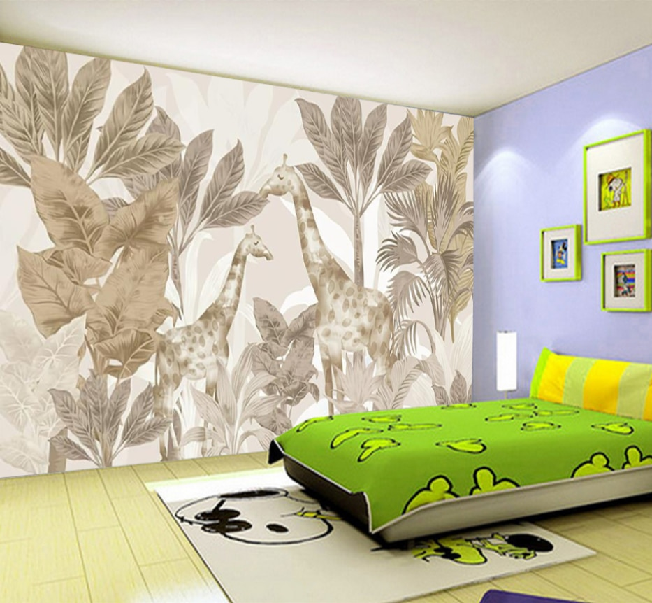 milofi-custom-3d-8d-wallpaper-mural-giraffe-forest-animal-bedroom-living-room-background-wall-waterproof-wall-cloth
