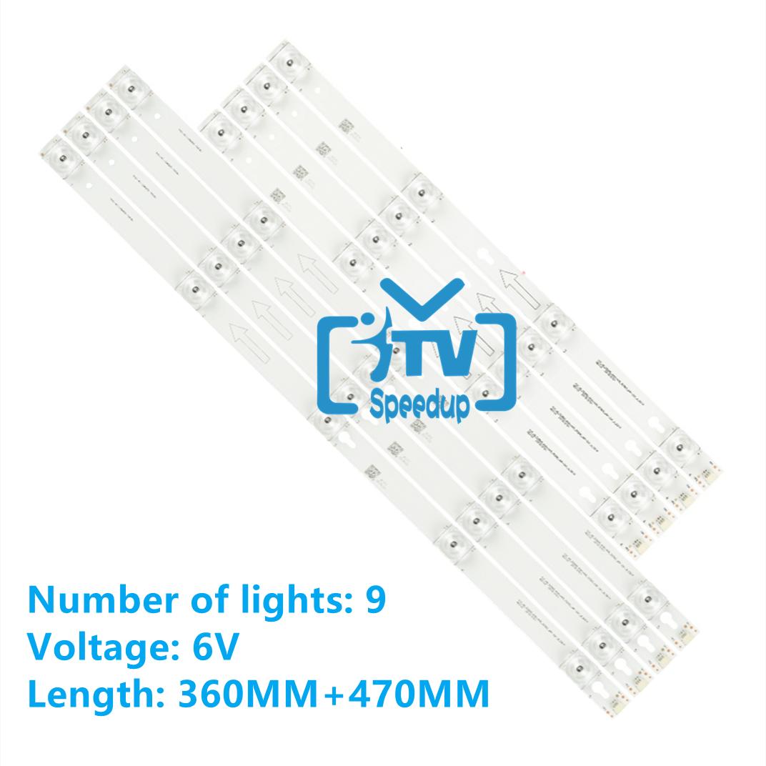 100kits LED Backlight strip for Toshiba 49L2600 L49S4900fs 49U7800 49P2US 49L2900 49D2900 49S405 49S403 TOT_49_D2900 U49P6066