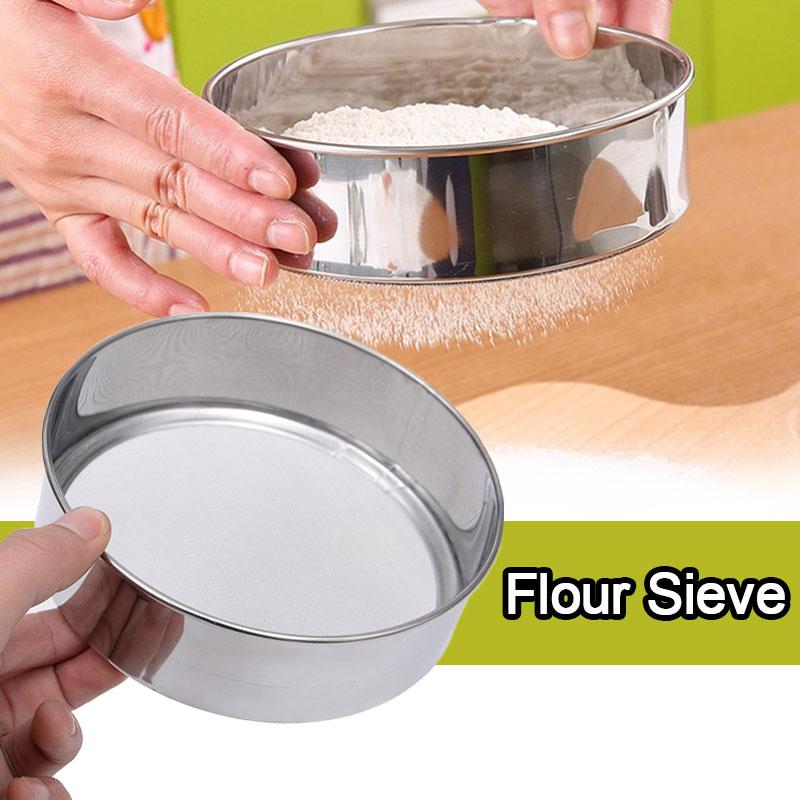Диаметр 15 см материал из нержавеющей стали сито для муки сетка для сахарного порошка ситечко для просеивания кухонные инструменты для выпе...