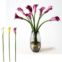 6pcs little calla lily shoot pu hose dining table meeting fake flower decorative flower flowers fake flowers flower