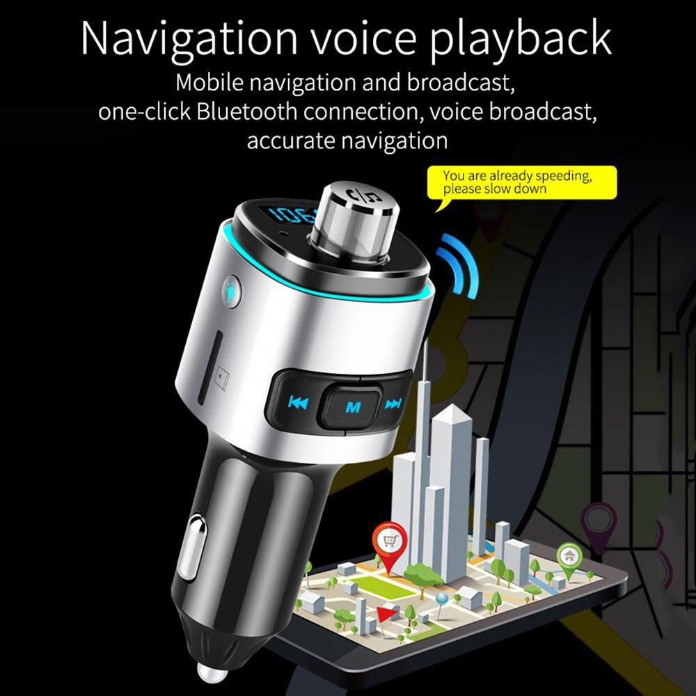 Carro mp3 player bc42 auto bluetooth fm transmissor qc3.0 rápido duplo usb carregadores de áudio handsfree carro kit