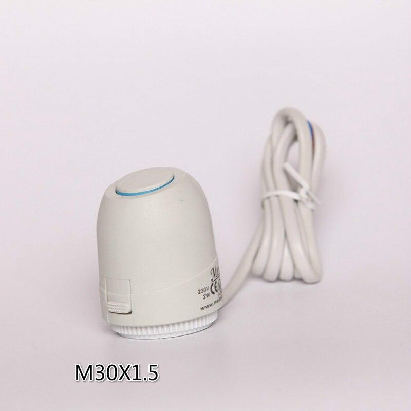 230В нормально закрытый электрический тепловой привод напольный нагревательный клапан для подогрева пола термостатический клапан M30X1.5