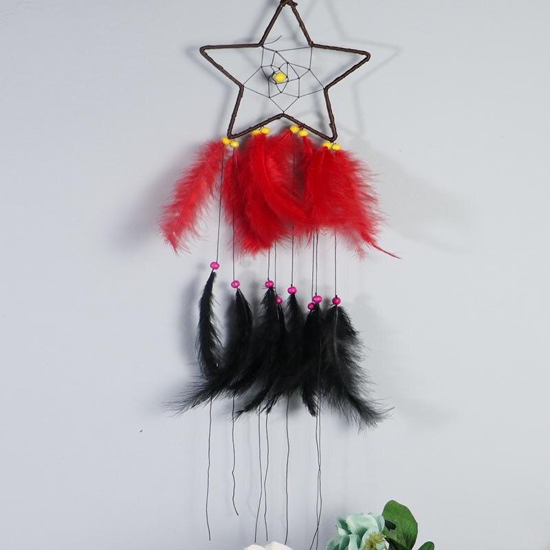 Бохо Ловец снов перо шарик Висячие струны Ловец снов украшение комнаты украшение подарок колокольчики ремесло