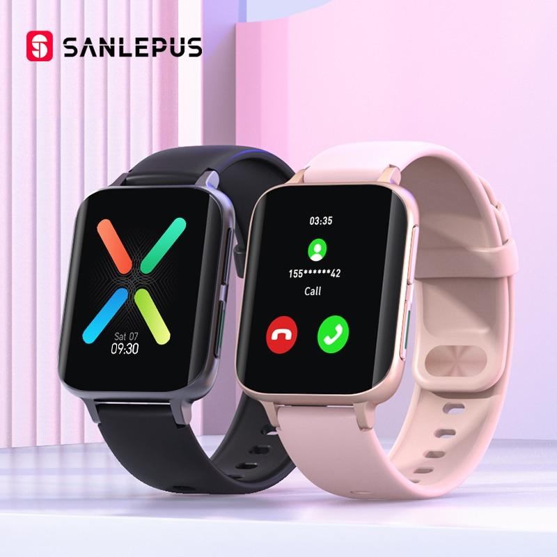 SANLEPUS 2021 ساعة ذكية الرجال النساء مقاوم للماء الساعات جعل الدعوة Smartwatch مشغل MP3 ل ممن لهم أندرويد أبل شاومي هواوي