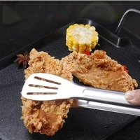 stainless steel clamp kitchen bbq bread utensil set barbecue tong fried steak shovel fried fish shovel clamp kitchen bread meat