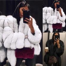 Femmes grande taille court fausse fourrure manteau chaud fourrure veste à manches longues vêtements dextérieur veste décontracté grande taille court fausse fourrure manteau