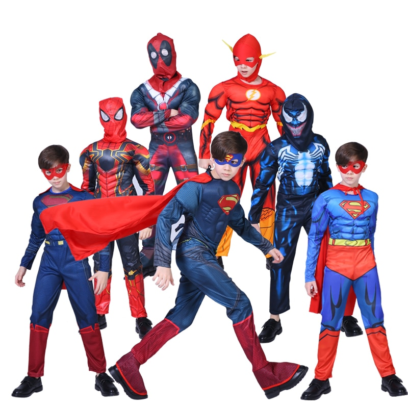 Spiderman, Superman, Eisen Mann, Karneval Kostüm für Jungen, Halloween Karneval Kostüm für Kinder, star Wars, Deadpool, Thor, Ant-Ma