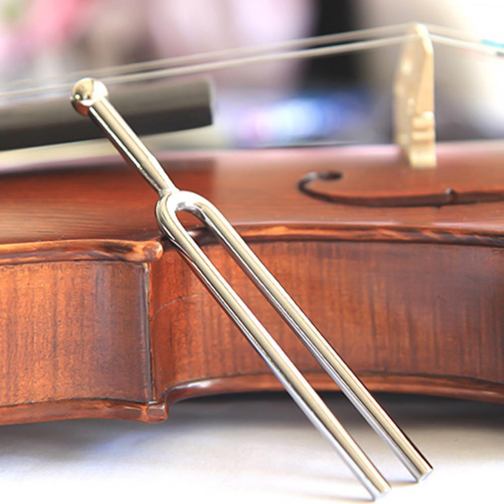 Tuning Fork Polished Tuning 440HZ Electroplated Guitar Tuner for Musicians 8pcs set tuning fork 256 288 320 341 3 348 426 6 480 512hz om chakra high frequency crystal tuning fork purifying energy