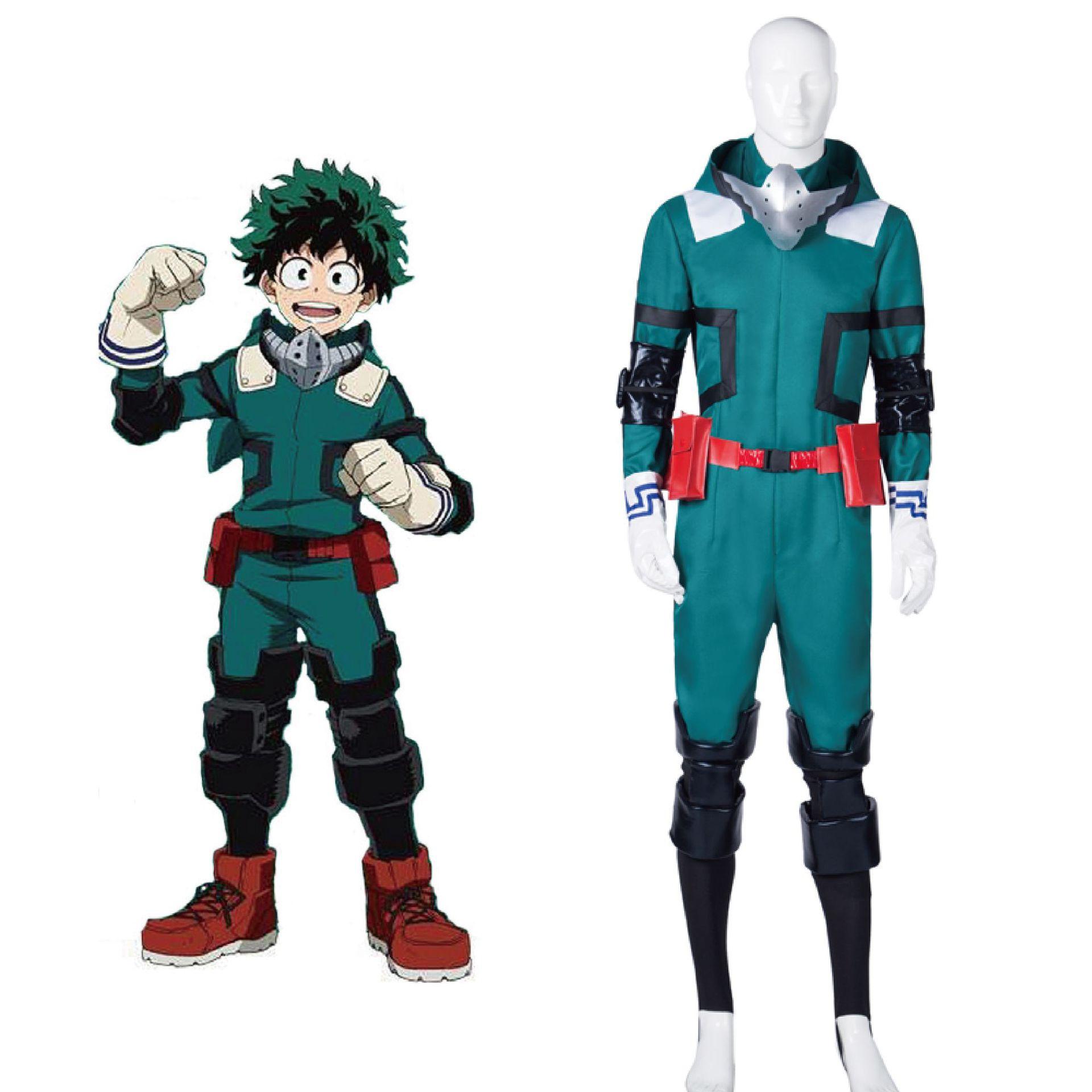 Anime My Hero Academia Boku no Hero Academia Midoriya Izuku Deku Cosplay Costume Battle Suit Men Jumpsuit Carnival Full Set