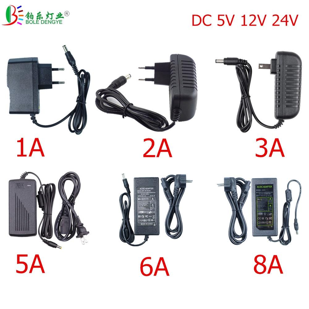LED Power Adapter DC 5V 12V 24V Lighting Transformer AC 110V/220V To DC Switching Power Supply 5.5mm*2.1~2.5mm Male Connector