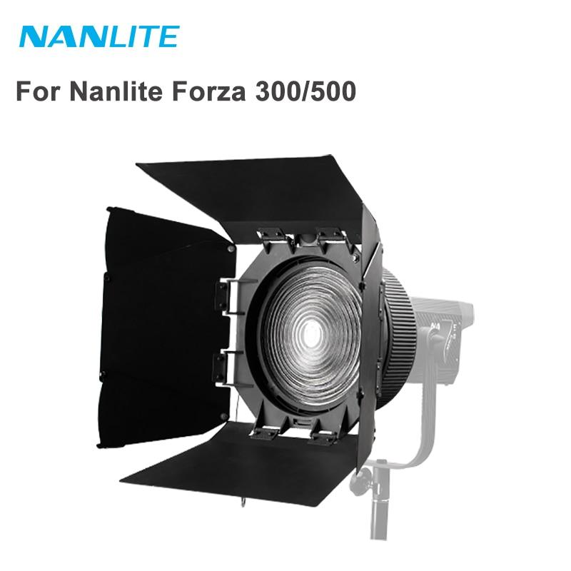 Nanguang FL-20 Fresnel lente con Barndoor Bowens montura para foco para Nanlite Forza 300 500 accesorios de luz de fotografía