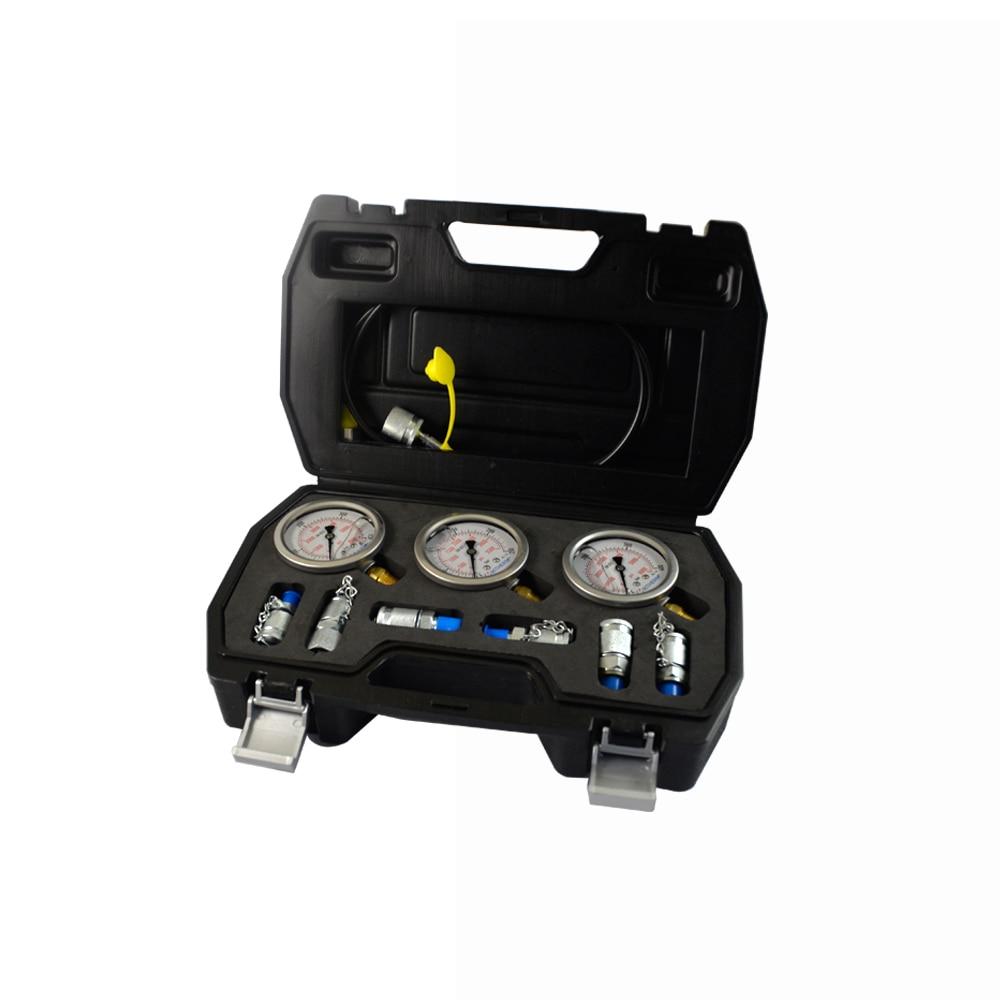 Excavator Hydraulic Pressure Gauge test hose pressure test tool kit enlarge