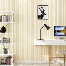 Simple moderne salon chambre Non-tissé rayures verticales papier peint européen écologique mode maison DecorWallpaper