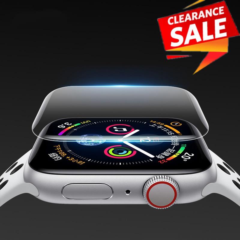 Protecteur d'écran pour Apple Watch, Film de protection complet en Hydrogel pour iWatch série 6 SE 5 4 3 2, 38mm 42mm 40/44mm