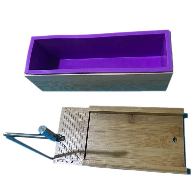 Piezas de XD-2 caliente/Set de herramientas de corte de molde de jabón con cortador de alambre + 900Ml silicona para jabón molde para el pan con caja de madera