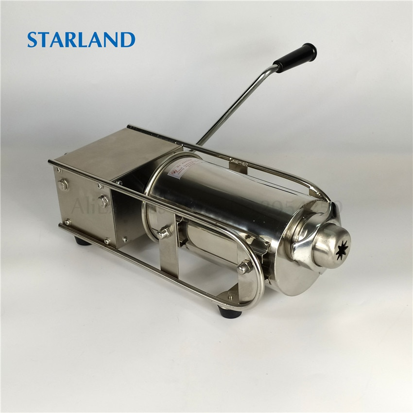 Horizontal 2L Churros Making Machine Sausage Maker Meat Filling Machine Stainless Steel Churros Extruder Manual Operation hot sale popular 5l commercial spanish churro maker machine with 6l fryer maker churros making machine with ce in high quqlity