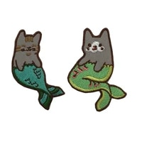 2019 new arrival animals cat mermaid fashion patches patches for childrens clothes bags diy garment accessories appliques