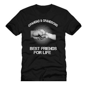 GRANDAD & GRANDSONS best friends for life fist punch fathers day MENS t SHIRT 2020 Summer