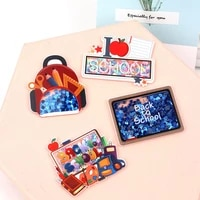 jojo bows back to school acrylic quicksand shakers accessories 4pcs flat back stickers phone case decoration diy hair bows craft