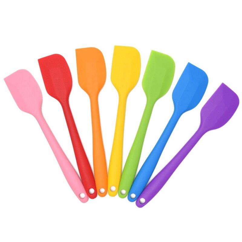 Espátulas de silicona de alta calidad, rascadores de goma antiadherentes resistentes al calor utensilios de cocina Gadget de cocina,