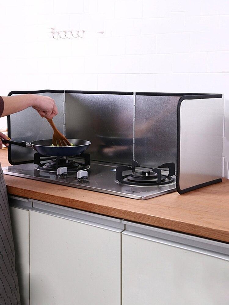 أدوات المطبخ شاشات ترشيش النفط 3-الوجهين الألومنيوم احباط لوحة موقد غاز سبلاش برهان يربك أدوات المطبخ المنزل الطبخ