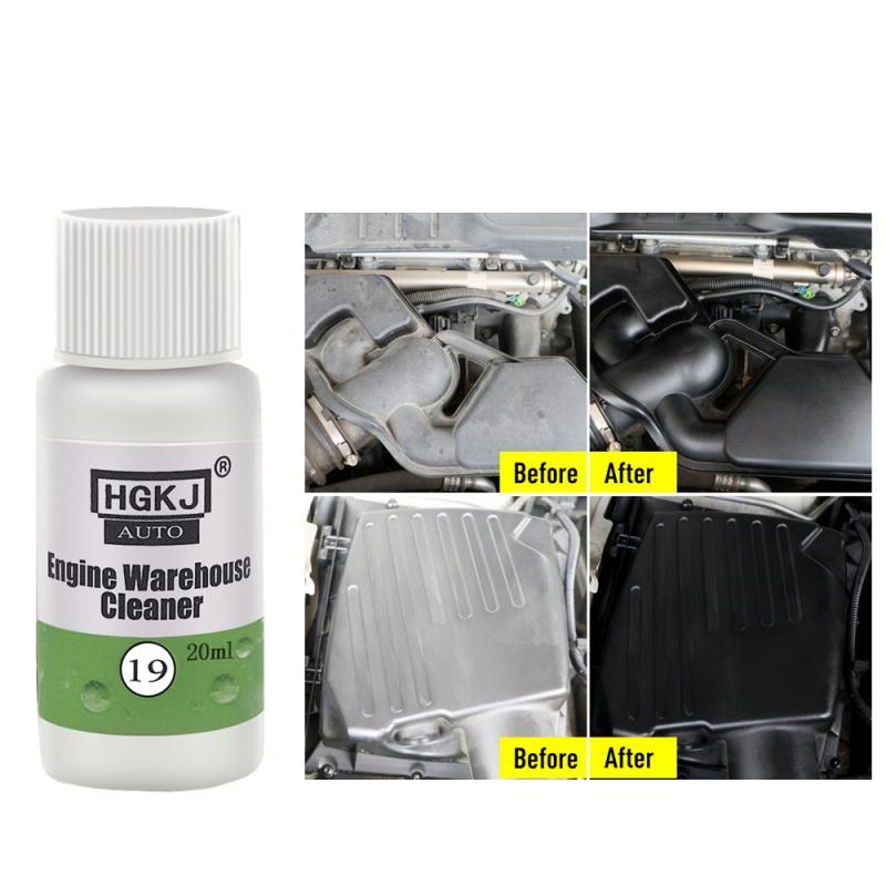 Limpiador para ventanas de automóviles, HGKJ-19 de limpieza para el compartimento del motor de 20ML, elimina el limpiador de aceite pesado, accesorios para el coche, TSLM1