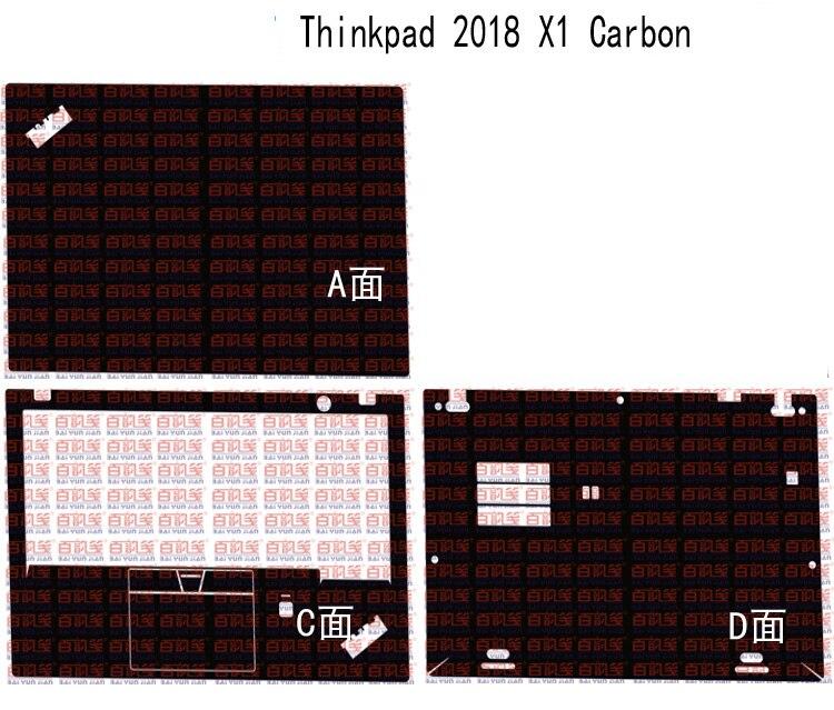"Laptop Adesivo de Pele Decalque Capa de Vinil fibra de Carbono para Lenovo Thinkpad X1 Carbono 2018 release 14"""