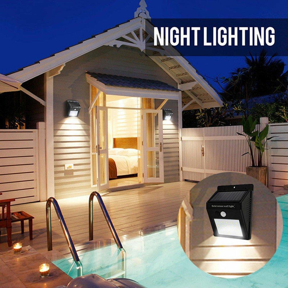 1 Set Waterproof 8/12/16/20/48/100 LED Solar Power PIR Motion Sensor Garden Wall Light Outdoor Home Light Sale Free Shipping