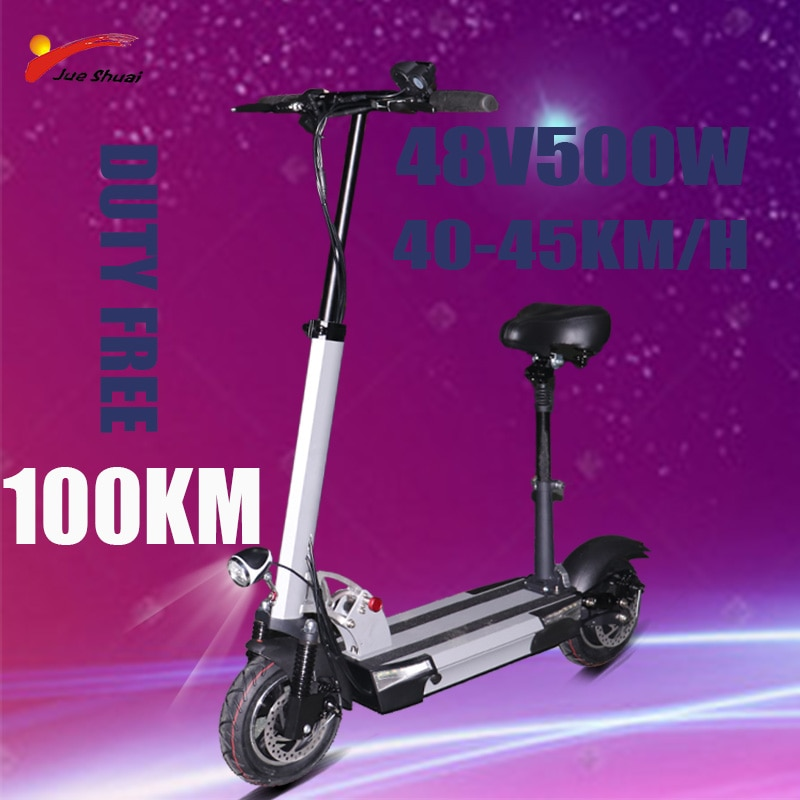 Patinete eléctrico plegable para Adulto, 48V, 500W, 45 km/h, 10 pulgadas, batería...