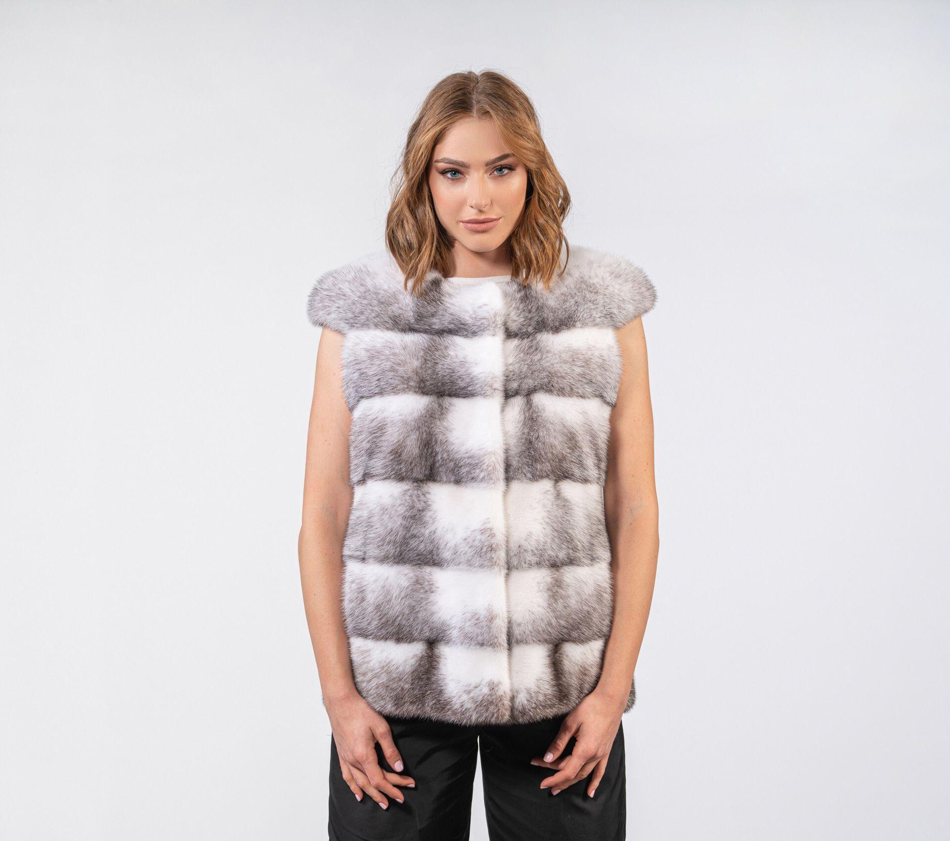 سترة من فرو المنك الطبيعي المتقاطع للنساء ، سترة من فرو المنك الأصلي لفصل الشتاء الدافئ ، أزياء غير رسمية 2020