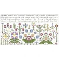 beautiful garden pattern counted cross stitch 11ct 14ct 18ct diy wholesale chinese cross stitch kits embroidery needlework sets