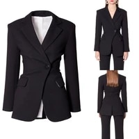 latest women suits fashion elegant slim fit one button blazer office lady casual wedding party 2 pieces jacket