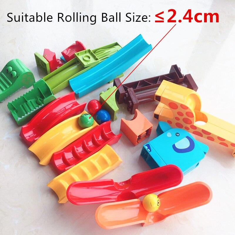 Crazy Fun Rolling Ball Building Blocks Compatible Marble Run Bricks Parts Accessories Educational DIY Toys