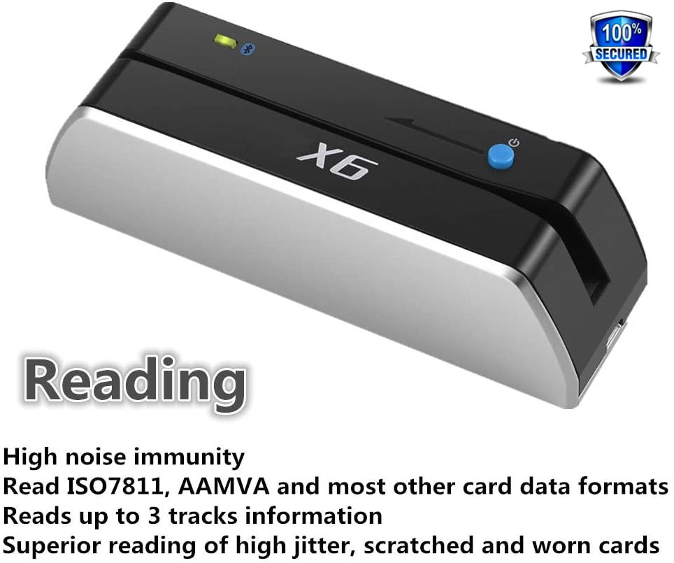 1Set BINFUL Bluetooth USB 3 Tracks msr X6(BT) VIP Card Reader Writer Encoder Mini Portable enlarge