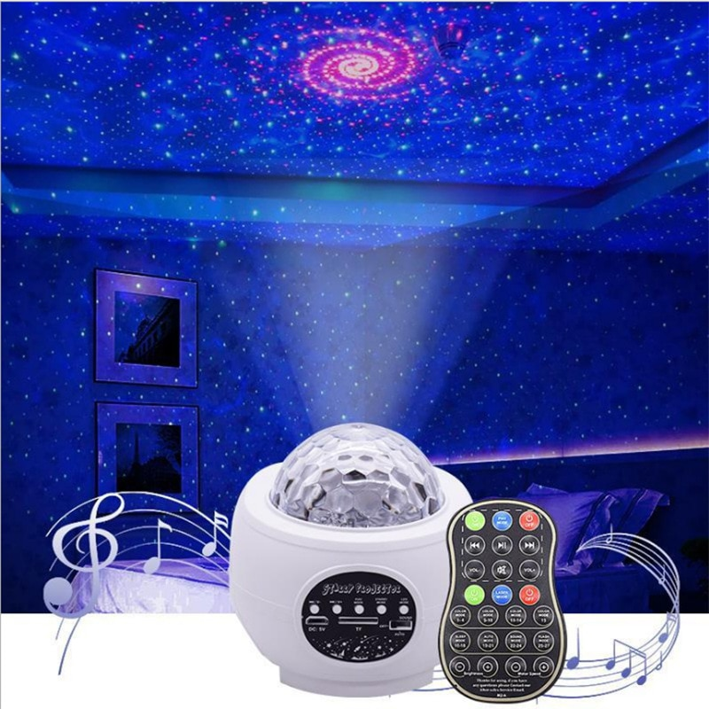 ضوء ليلي LED مع بلوتوث ، تصميم جالاكسي ، ضوء ليلي ، ضوء ليلي ، موسيقى