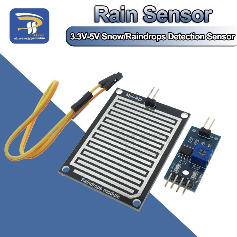 Модуль для измерения погоды и влажности для Arduino, датчик обнаружения дождя и снега, 3,3 В-5 в пост. Тока