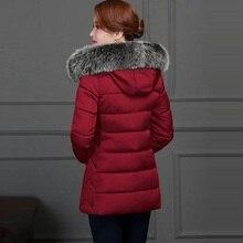 Fake fox Fur Coat Women Cotton Parka Winter Jacket Women Parkas short thickening slim fashion down cotton jacket woman student